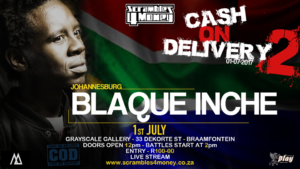 Blaque Inche Cash on Delivery 2 Scrambles 4 Money