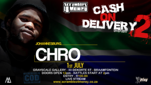 Cash on Delivery 2 Chro 2017 South Africa Presented by Scramble 4 Money
