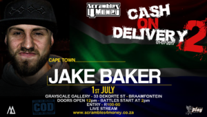 Cash on Delivery 2 Jake Baker 2017 South Africa Presented by Scramble 4 Money