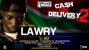Cash on Delivery 2 Lawry 2017 South Africa Presented by Scramble 4 Money