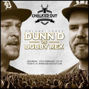 Chalked Out 2018 Volume Three Chalked Out Volume Three Dunn D v Bobby Rex Saturday 10th February 2018