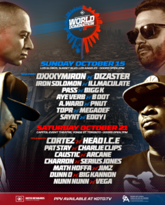 King of the Dot World Domination VII KOTD WD7 Line Up KOTD World Domination 7