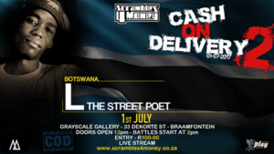 L The Street Poet Cash on Delivery 2 July 1 2017 Presented by Scrambles for Money