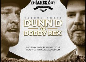 Chalked Out 2018 Pay Per View Video Chalked Out Volume Three Dunn D v Bobby Rex Saturday 10th February 2018